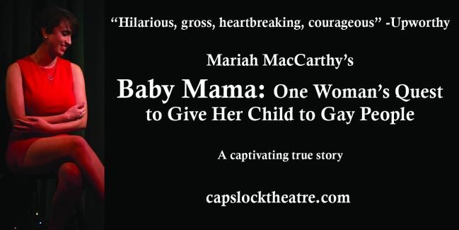 Baby Mama ad - Cincy Fringe - horizontal