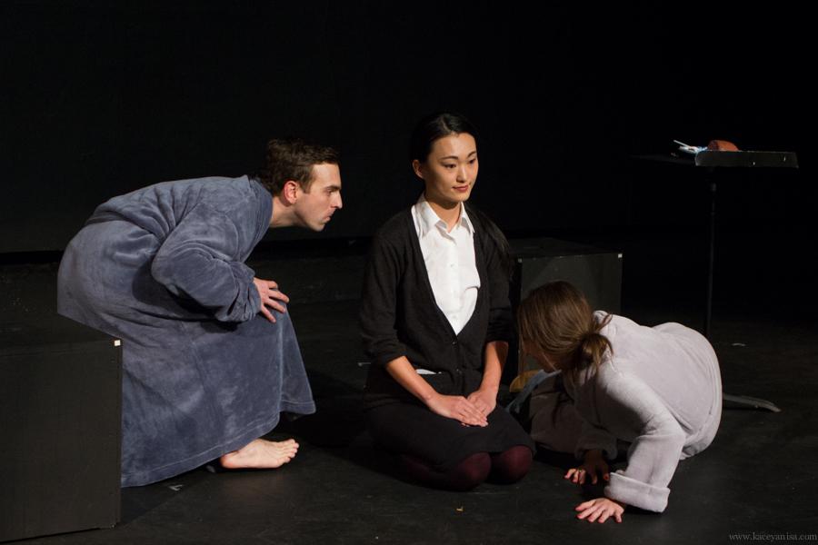 Pictured: Alex Herrald, Mari Yamamoto, and Darcy Fowler. Photo by Kacey Stamats.